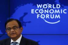Finance minister P.Chidambaram at the World Economic Forum in Davos. Photo:Reuters
